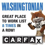 Washingtonian says a great place to work list 8 times in a row!