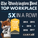 The Washington Post top work places 4 times in a row!
