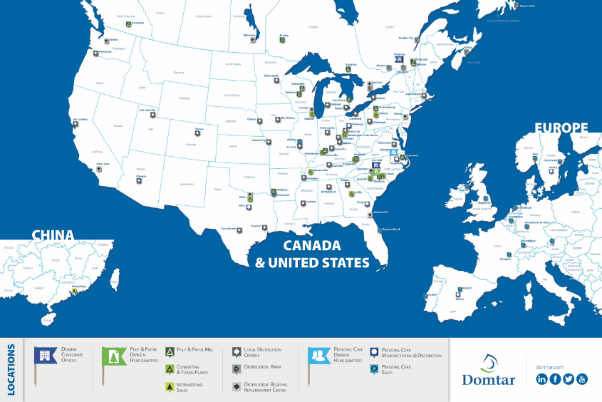 Domtar Map