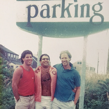 An old picture of the three founders of LAZ Parking